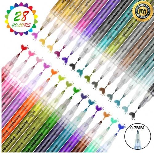 7 Farbe Wasserfester Acrylfarben Acrylstifte Wasserfest Holz Stifte für