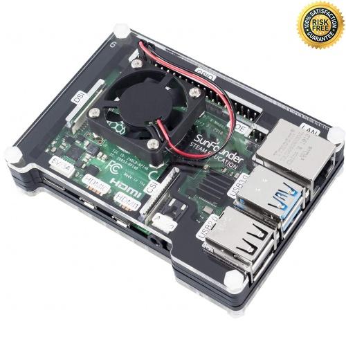 Carcasa de disipador térmico Raspberry Pi 4 con ventilador